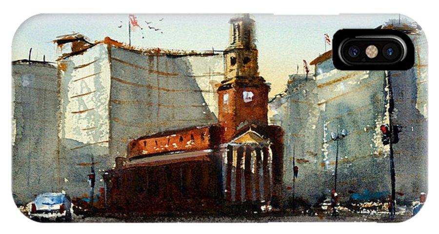 Church IPhone X Case featuring the painting Presbyterian Church, Ny Avenue Washington Dc by James Nyika