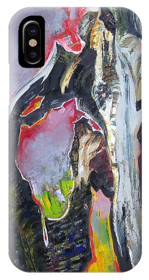 Oil IPhone Case featuring the painting Presentiment by Sergey Ignatenko