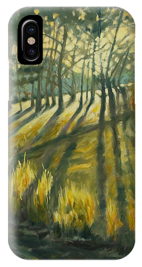 Trees IPhone X Case featuring the painting Presidio by Rick Nederlof