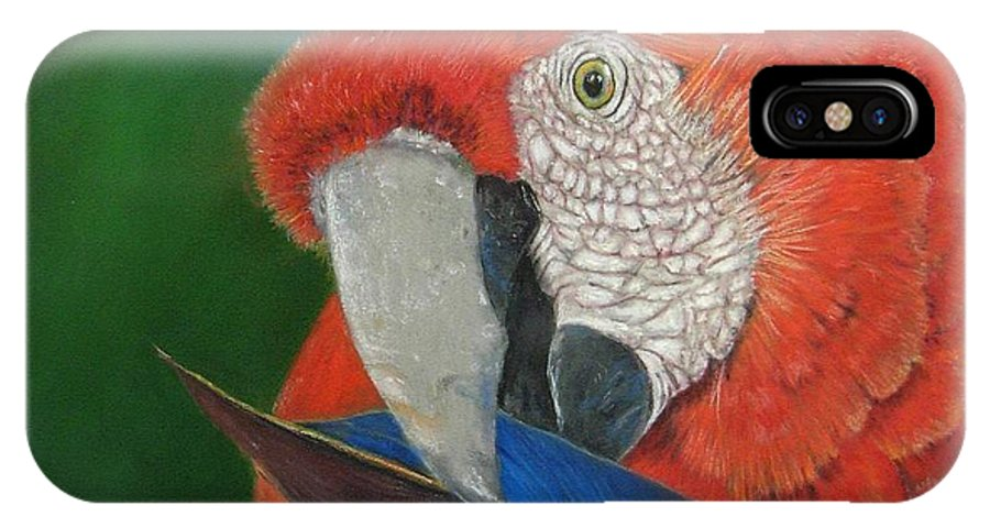 Bird IPhone X Case featuring the painting Presumida by Ceci Watson