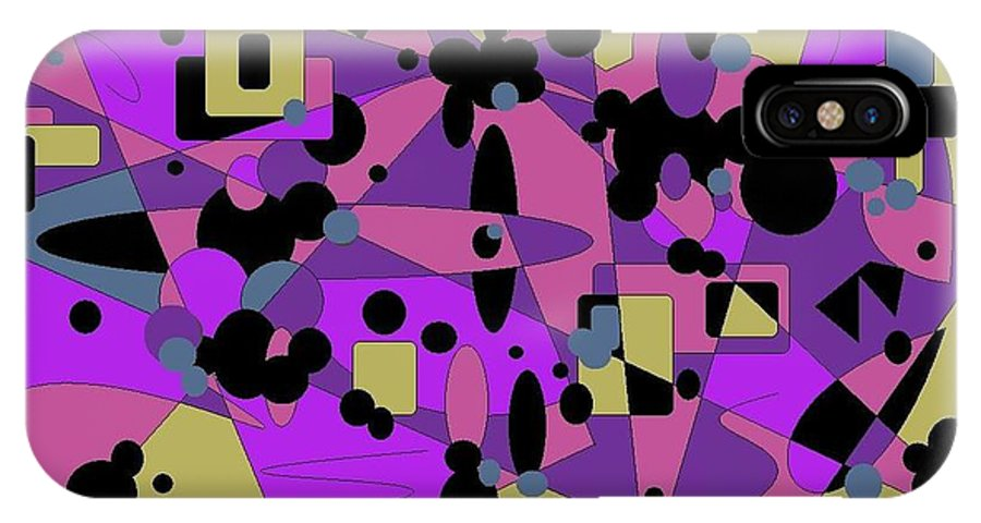 Digital Abstract IPhone X Case featuring the digital art Pretty Picture by Jordana Sands