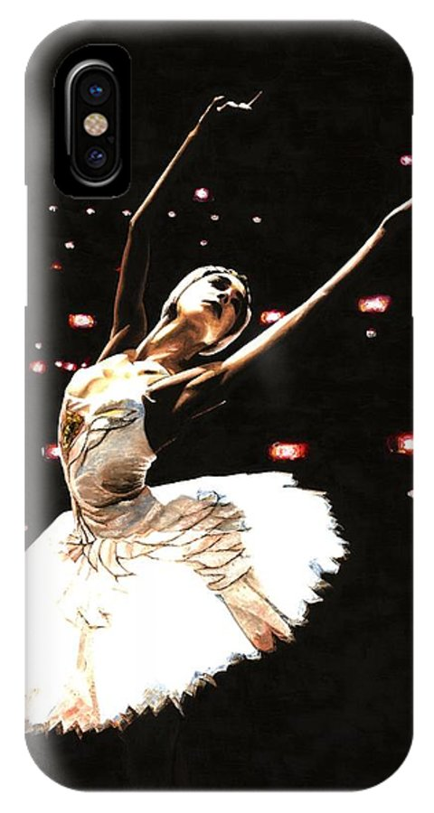 Prima Ballerina IPhone Case featuring the painting Prima Ballerina by Richard Young