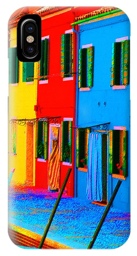 Burano IPhone X Case featuring the photograph Primary Colors Of Burano by Donna Corless