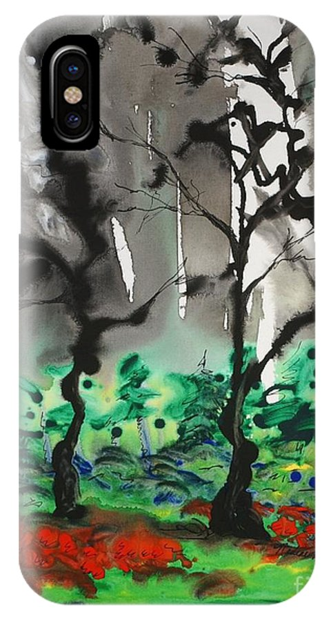 Forest IPhone Case featuring the painting Primary Forest by Nadine Rippelmeyer