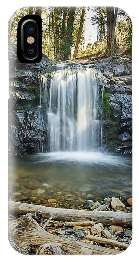 Waterfall IPhone X Case featuring the photograph Pristine Waterfall by Rod Goodwin