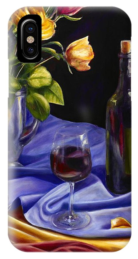 Still Life IPhone X Case featuring the painting Private Label by Shannon Grissom
