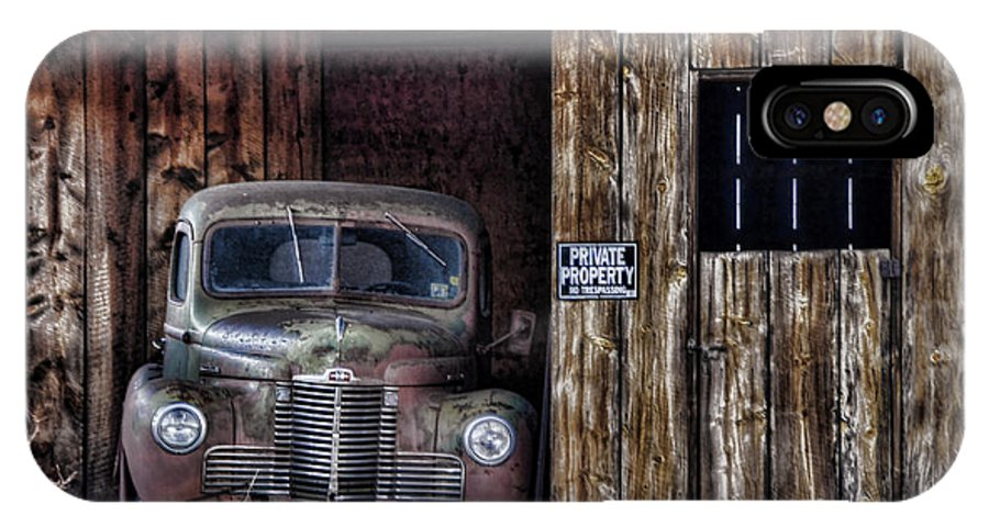 Vintage Car IPhone X Case featuring the photograph Private Parking by Ken Smith