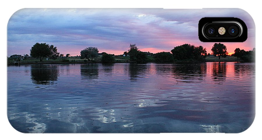Sunset IPhone X Case featuring the photograph Prosser Pink Sunset 5 by Carol Groenen