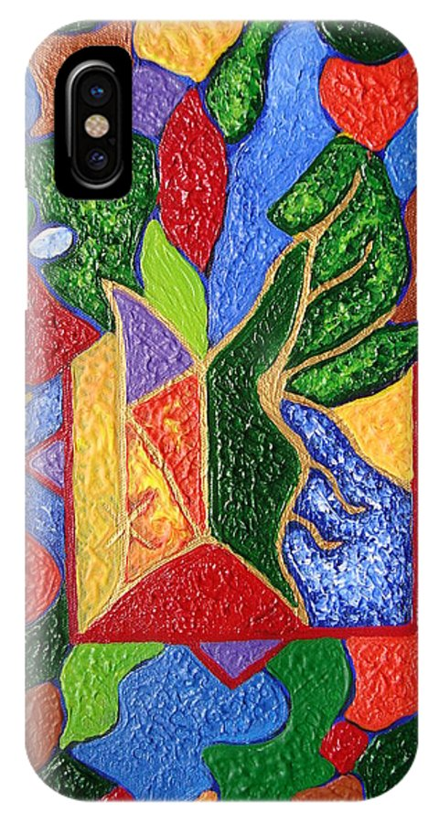 Spiritual Symbol IPhone X Case featuring the painting Protection While Project Realization by Joanna Pilatowicz