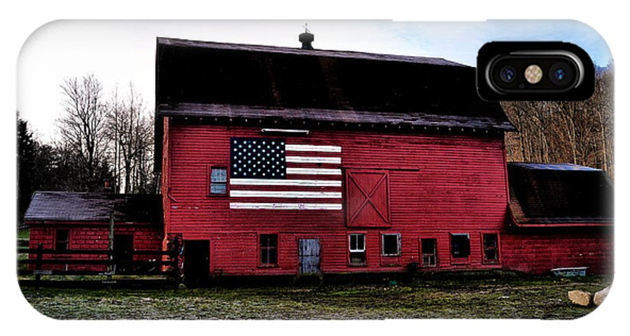 Proud IPhone X Case featuring the photograph Proud To Be American by Bill Cannon