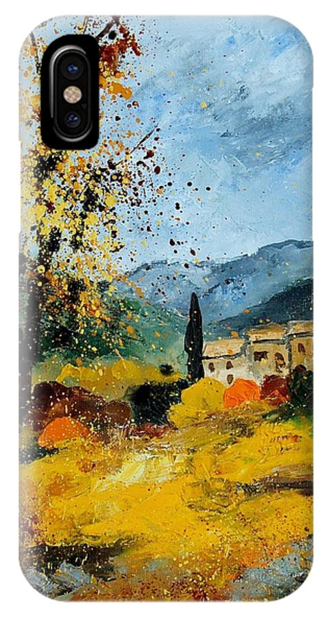 Provence IPhone X Case featuring the painting Provence 45 by Pol Ledent