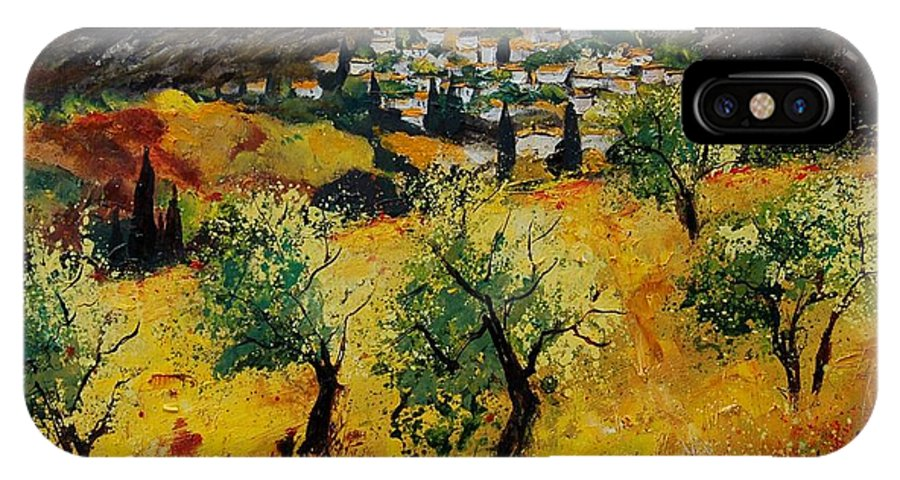 Provence IPhone X Case featuring the painting Provence 789080 by Pol Ledent