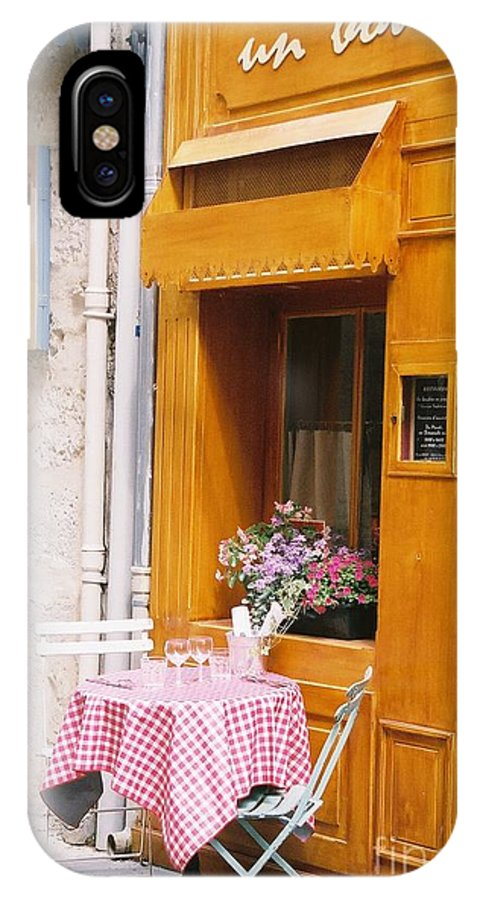 Cafe IPhone X Case featuring the photograph Provence Cafe by Nadine Rippelmeyer