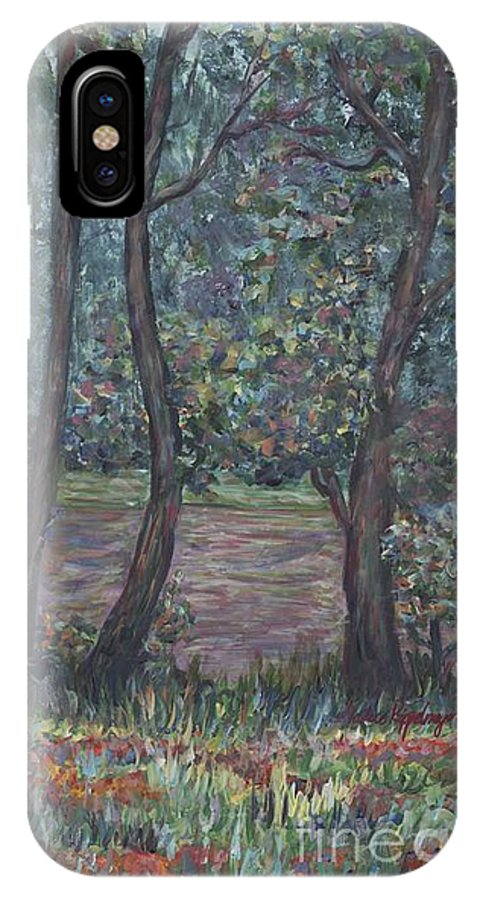 Landscape IPhone X Case featuring the painting Provence Flowers by Nadine Rippelmeyer