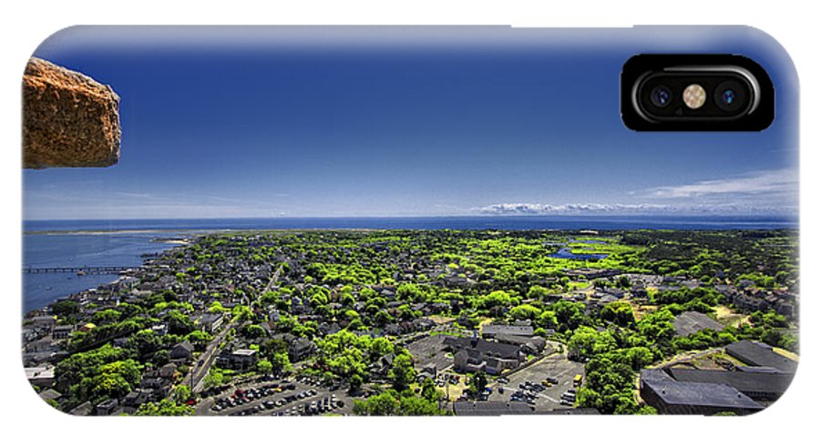 Provincetown Aerial IPhone X Case featuring the digital art Provincetown Panoramic Aerial by Dapixara Art