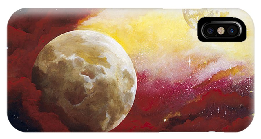 Space IPhone Case featuring the painting Psalm by Laura Swink
