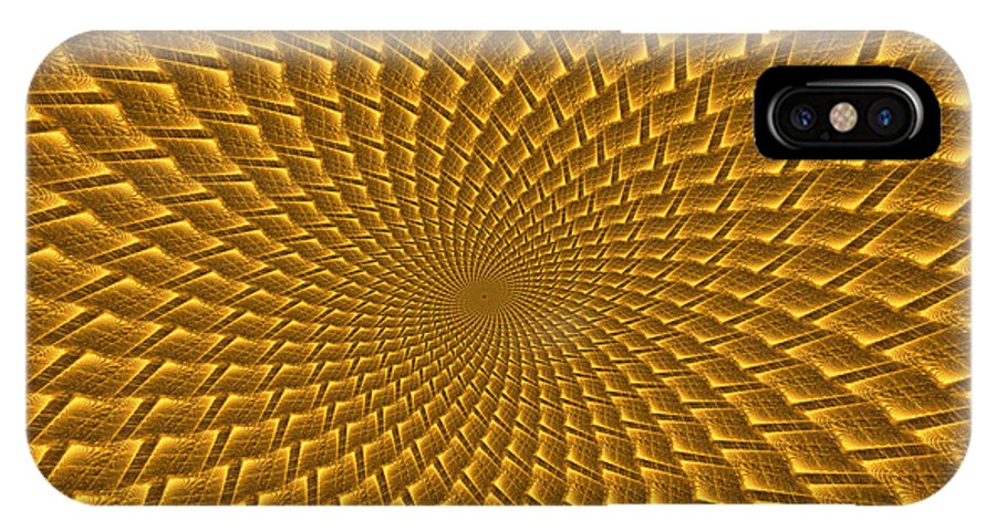 Elena Riim IPhone X Case featuring the digital art Psychedelic Spiral by Elena Riim