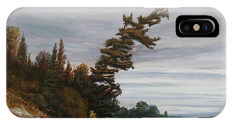 Landscape IPhone Case featuring the painting Ptarmigan Bay by Ruth Kamenev