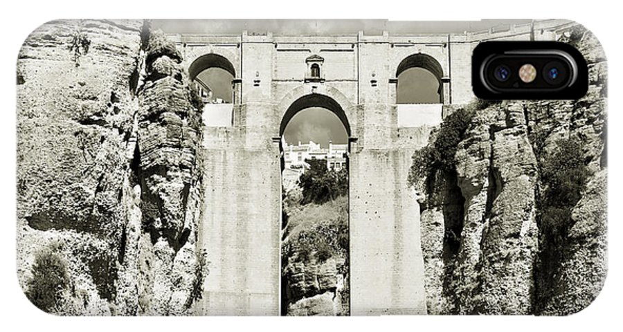 Bridge IPhone X Case featuring the photograph Puente Nuevo Tajo De Ronda Andalucia Spain Europe by Mal Bray
