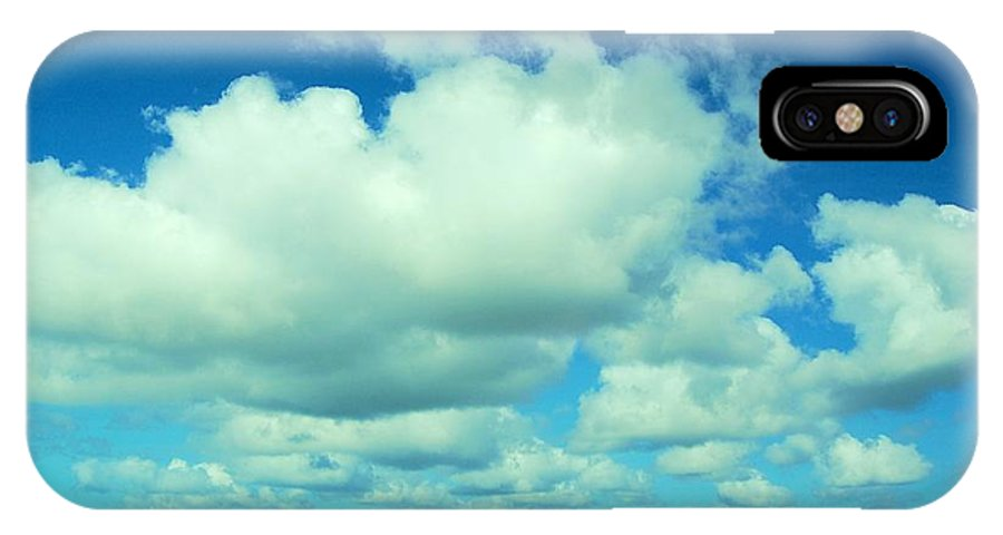 Clouds IPhone X Case featuring the photograph Puff March by HweeYen Ong