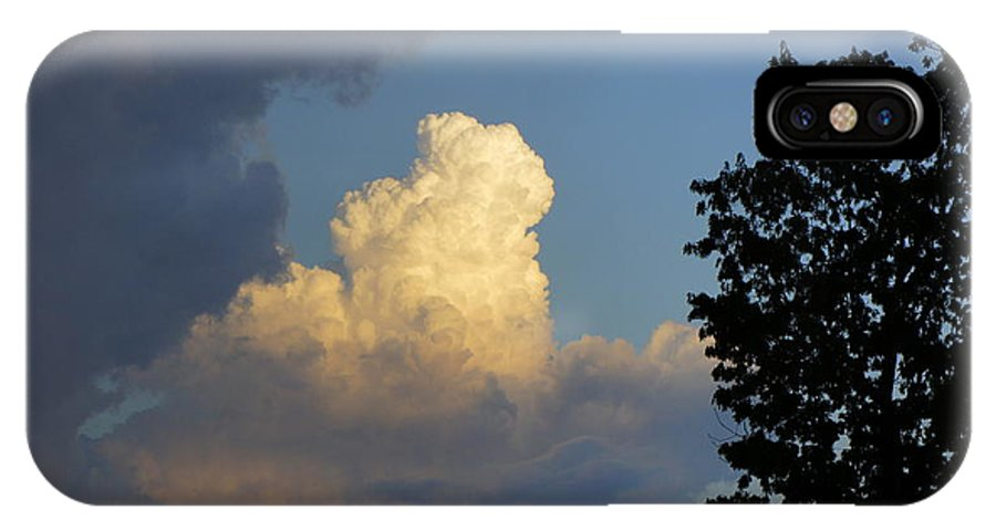 Sky IPhone X Case featuring the photograph Puffy Cloud by Daniel Chiong