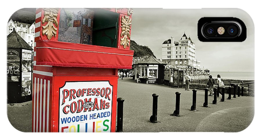 Punch And Judy IPhone X Case featuring the photograph Punch And Judy Theatre On Llandudno Promenade by Mal Bray