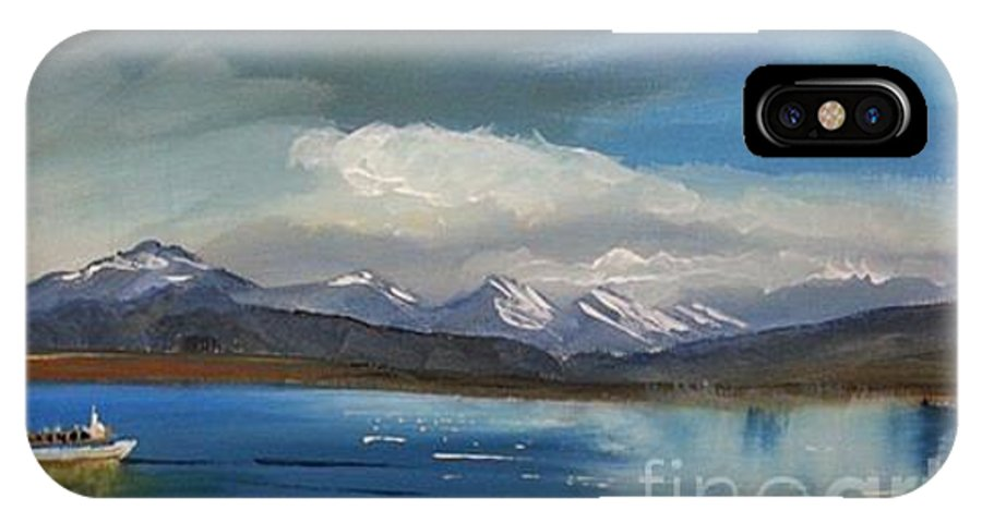 Original. Seas IPhone X / XS Case featuring the painting Punta Arenas by Eli Gross
