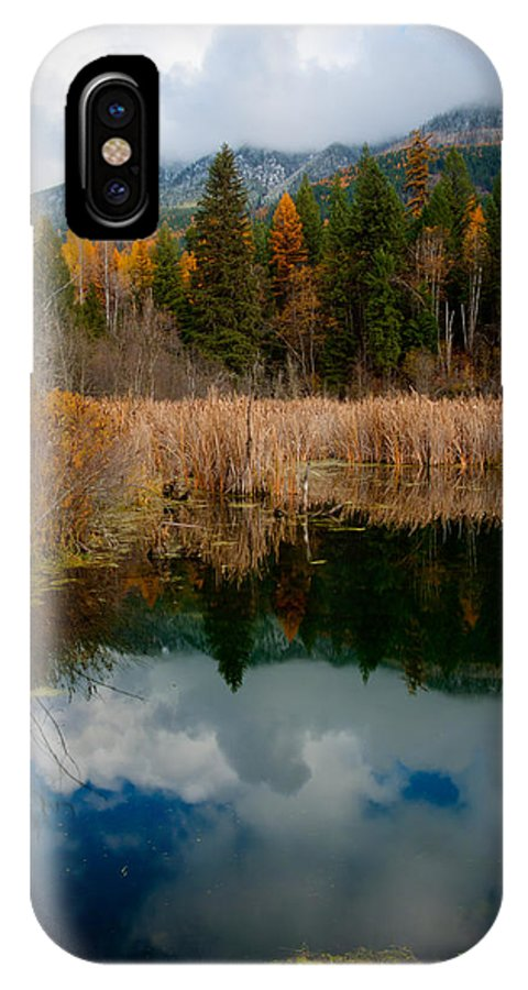 Pond IPhone X Case featuring the photograph Purcells Reflected by Idaho Scenic Images Linda Lantzy