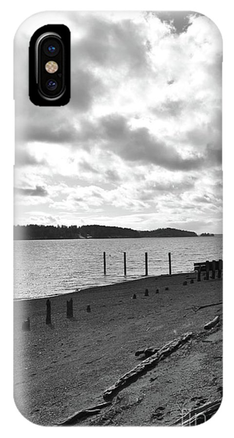 Purdy IPhone X Case featuring the photograph Purdy Beach by Lisa Kleiner