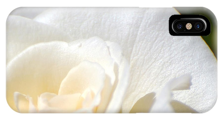 Flower IPhone X Case featuring the photograph Pure by Larry Keahey