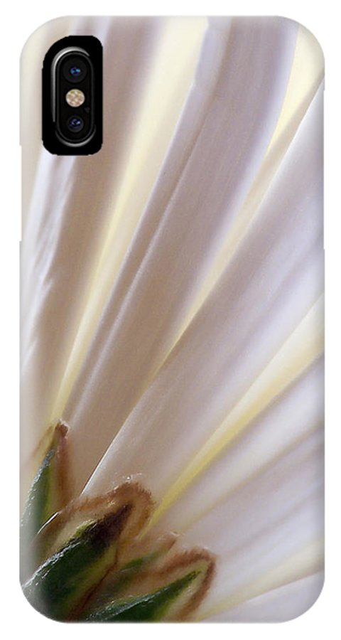 Macro IPhone X Case featuring the photograph Pure by Lauren Radke