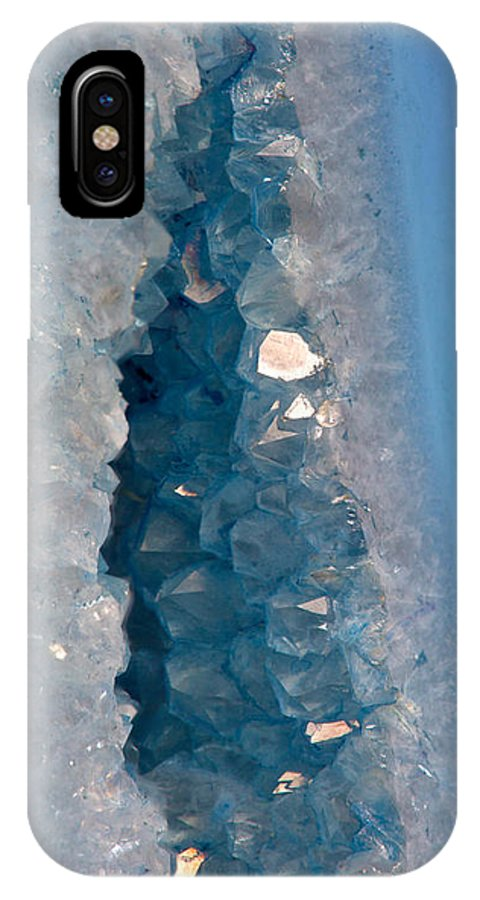 reputable site 1a88a 267df Purple And Blue Agate With Druzy IPhone X Case