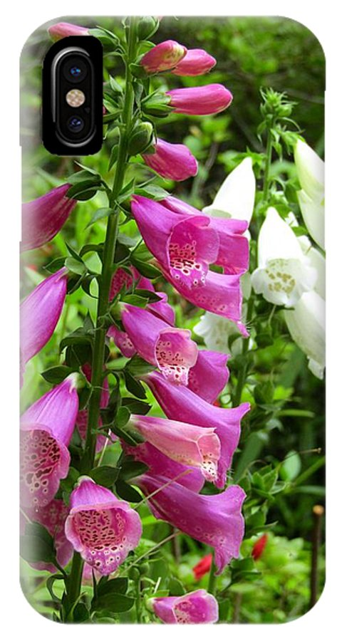 IPhone X Case featuring the photograph Purple And White Bell Flowers by Timothy Morris
