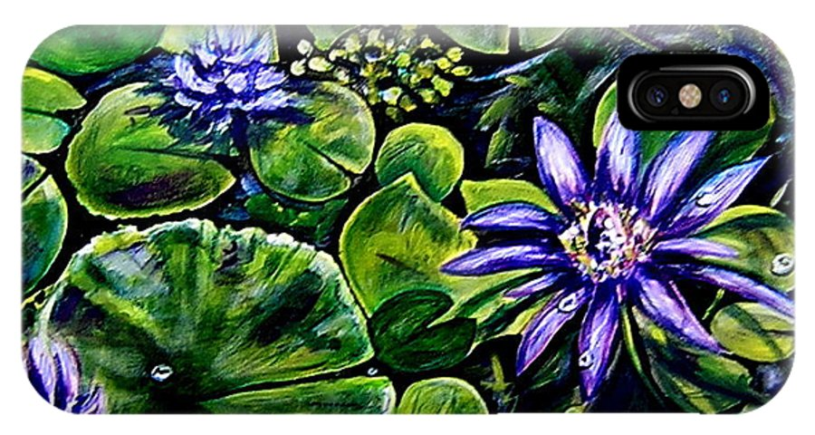 Purple IPhone X Case featuring the painting Purple Dawn by Elizabeth Robinette Tyndall
