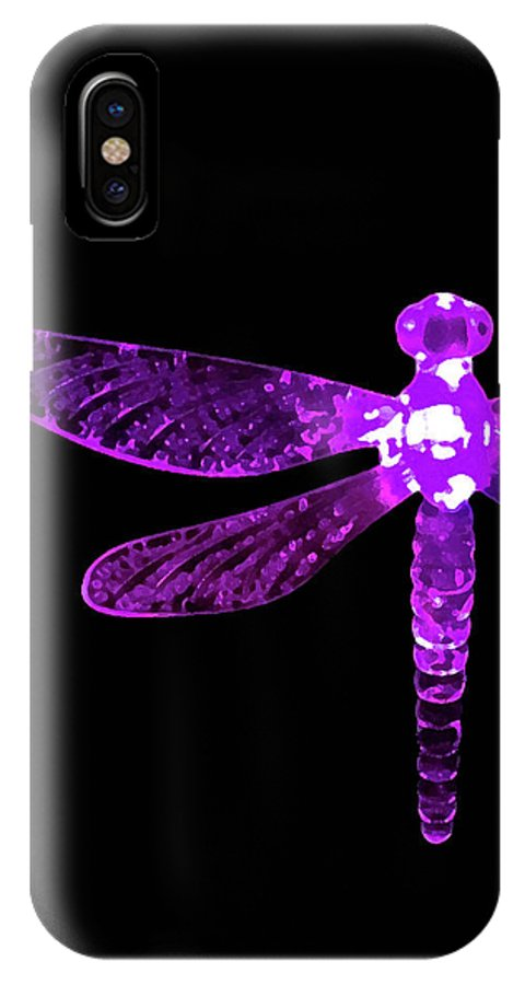 Purple Dragonfly IPhone X Case