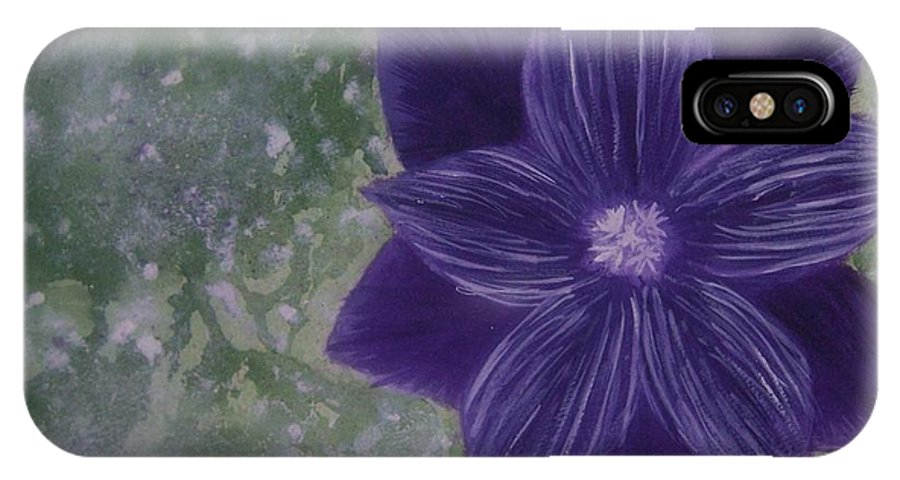 Flower IPhone Case featuring the painting Purple Flower by Emily Young