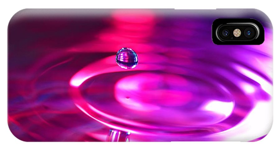 Abstract IPhone X Case featuring the photograph Purple Haze by Jimmy Ostgard