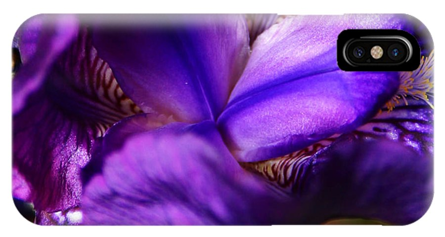 IPhone X Case featuring the photograph Purple Iris by Anthony Jones