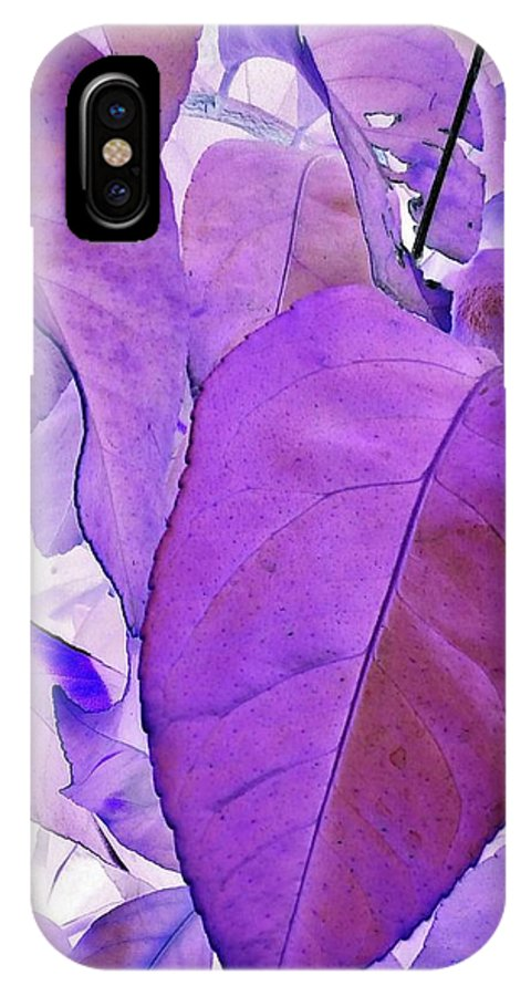 Plant Life IPhone X Case featuring the photograph Purple Leaves by Peggy Leyva Conley