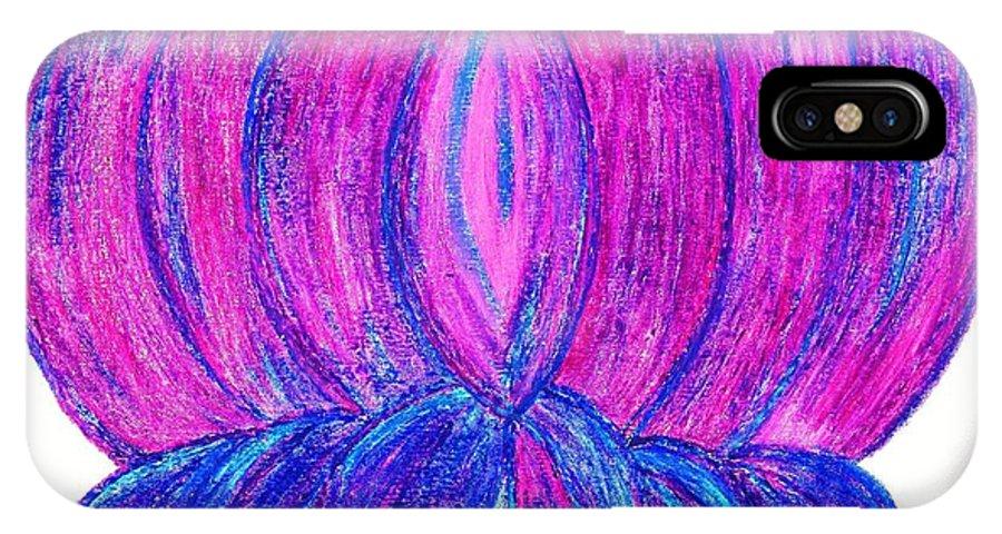 Purple Lotus IPhone X Case featuring the pastel Purple Lotus by Chandelle Hazen