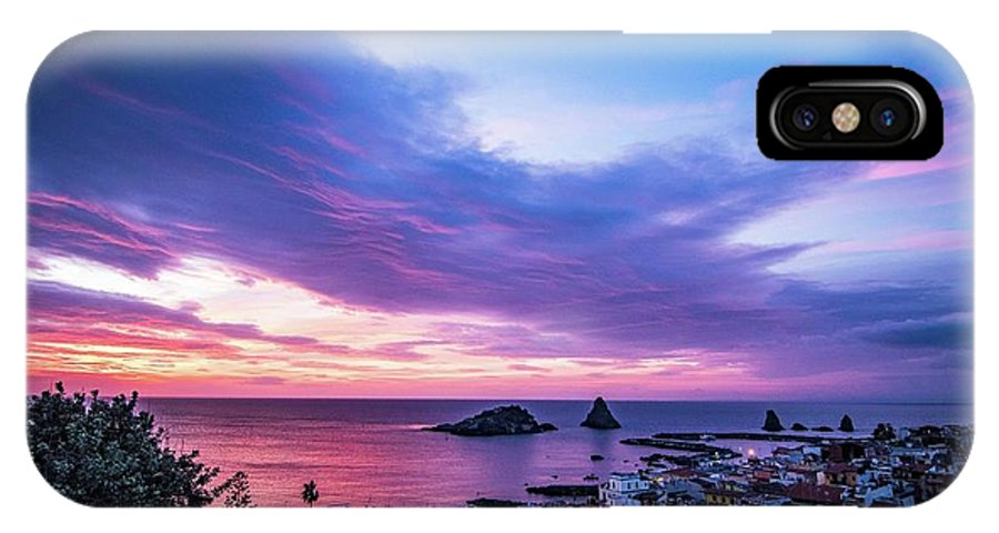 Sunrise IPhone X Case featuring the photograph Purple Morning by Larkin's Balcony Photography