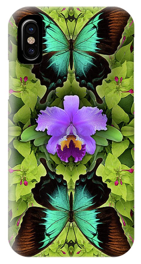 Botanical IPhone X Case featuring the photograph Purple Orchid by Bruce Frank