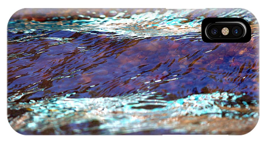 Water IPhone X Case featuring the photograph Purple Rain by Donna Blackhall