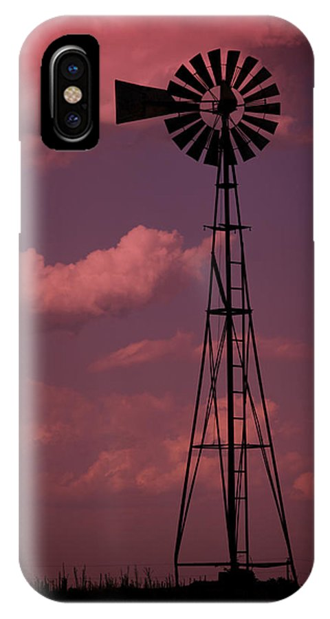 Wind IPhone X Case featuring the photograph Purple Wind by Ricky Barnard