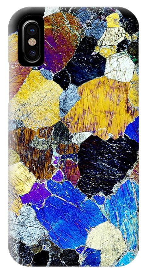 Pyroxenite IPhone X / XS Case featuring the photograph Pyroxenite Mineral, Light Micrograph by Dirk Wiersma