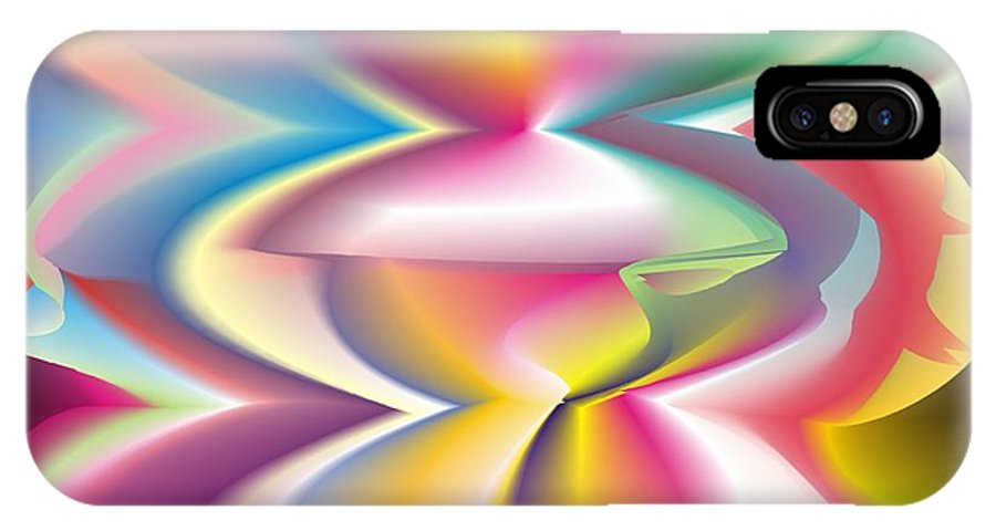 Abstract IPhone Case featuring the digital art Quantum Landscape 3 by Walter Oliver Neal