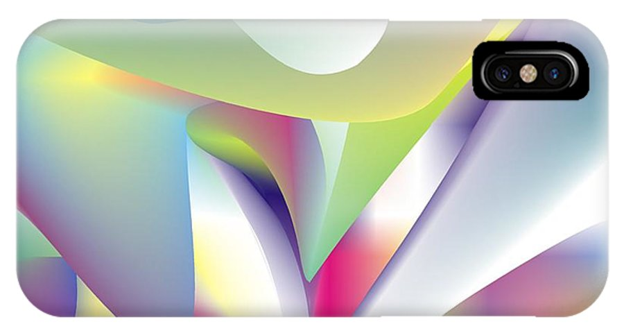 Abstract IPhone Case featuring the digital art Quantum Landscape 5 by Walter Oliver Neal