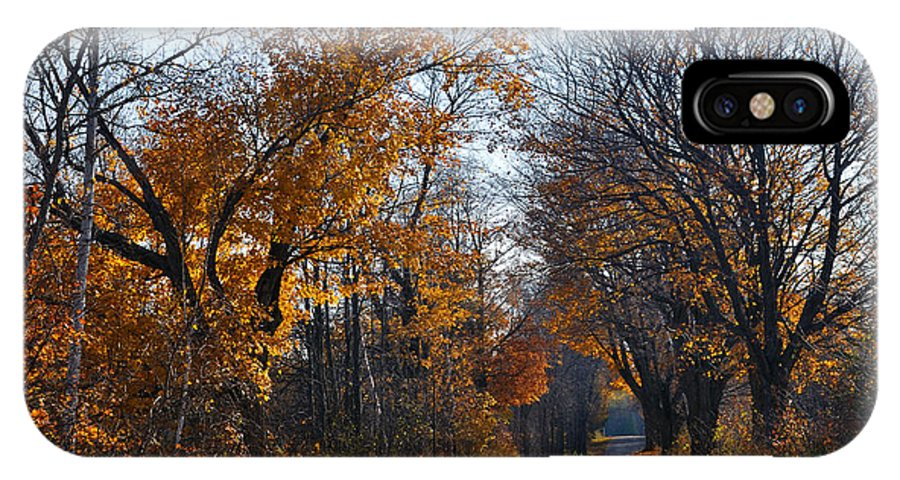 Road IPhone X Case featuring the photograph Quarterline Road by Tim Nyberg