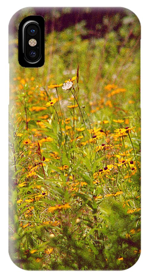 Flower IPhone X Case featuring the photograph Queen Ann by Randy Oberg