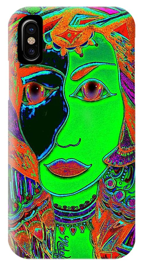 Queen Of The Nile IPhone X Case featuring the painting Queen Of The Nile by Natalie Holland